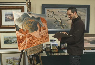 Wildlife artist Martin Ridley - Artist in Residence at Nature in Art 2008