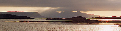 At the end of a day watching eiders, otters and seals. Photo - Rhum and Eigg by Martin Ridley - wildlife art