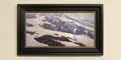 Framed mountain-hares print for sale