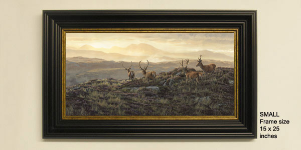 Red Deer Stags Print - Framed print view from the Rhu Peninsula near Arisaig